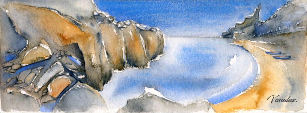 Cala Moraig, watercolor